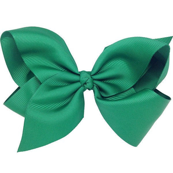 Sophie dark green big bow hair clip