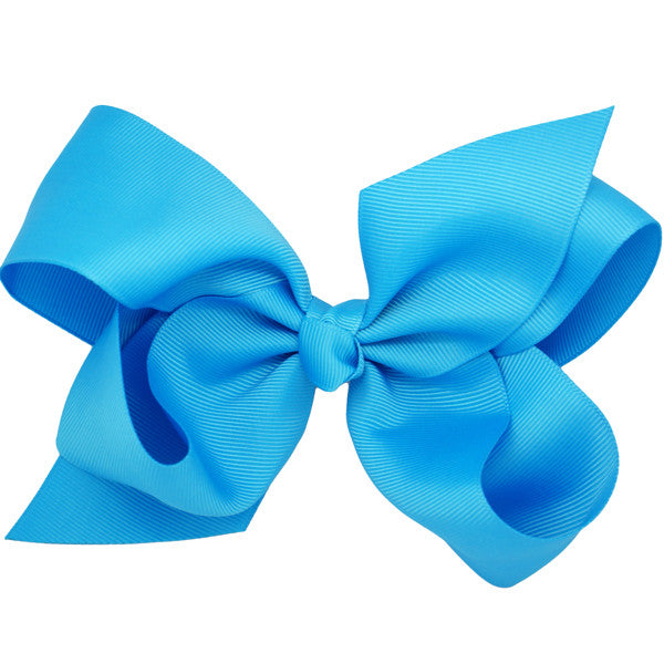 Skylar Blue Medium Bow Clip | Hair Bows and Clips for Girls