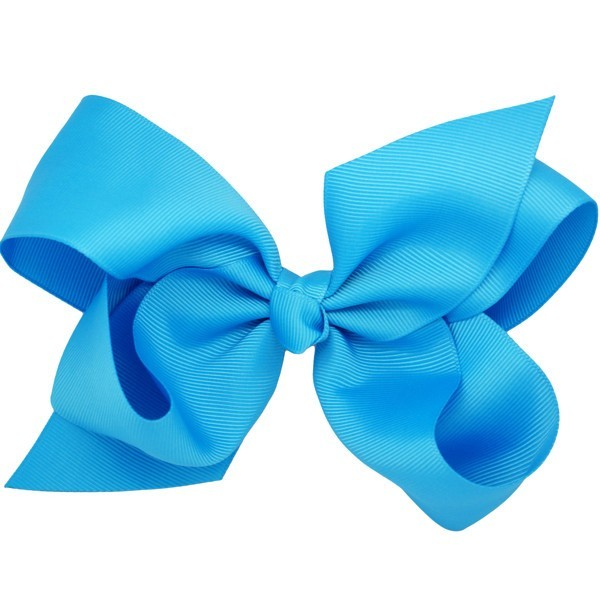 Vali blue big bow hair clip for girls
