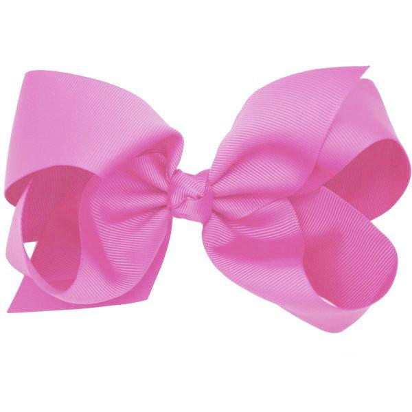 Venus hot pink big bow hair clip for girls