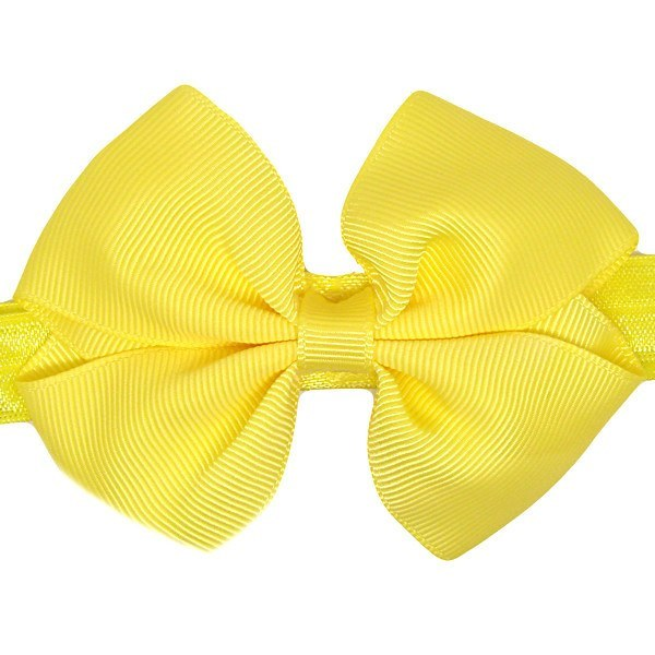 Yvette Yellow Baby Headband | Newborn Hair Accessories