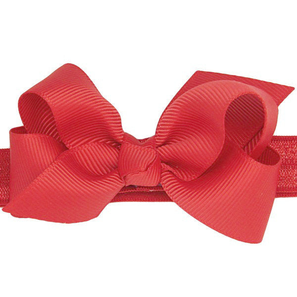 Zaria Red Small Bow Baby Headband & Baby Bow for Babies