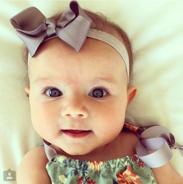 Everly in Bree Baby Headband (Gorgeous Baby Headbands Australia Pretty Little Clippies)