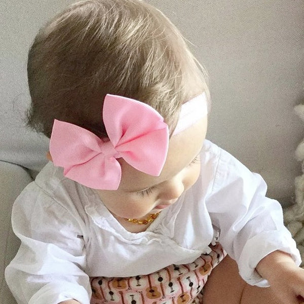 Halcey baby pink butterfly bow baby headband