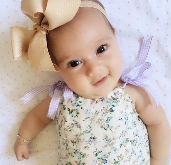 ... Beautiful bub wearing Venice tan medium baby headband (by Pretty Little  Clippies Australia) ... 7d875601b3e