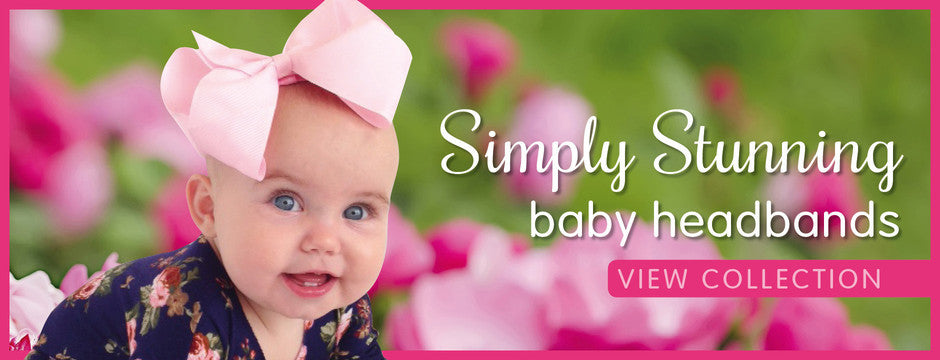 Isla Rose Candy big bow  (Buy baby headbands online at Pretty Little Clippies Australia)