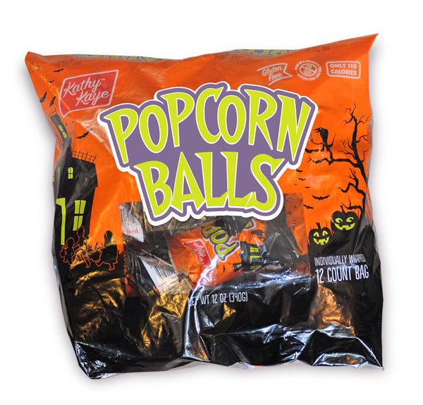 Halloween Popcorn Ball <br>24 or 72 Count Cases