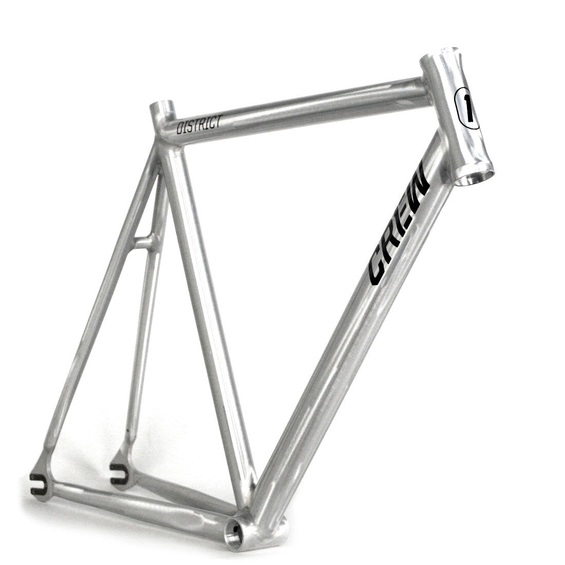 Crew Bike Co. District Track Frame - Raw | Crew Bike Co
