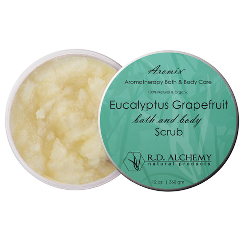 Aromix Aromatherapy Sea Salt Body Scrub - Eucalyptus Grapefruit