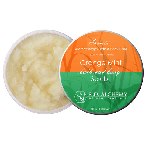 Aromix Aromatherapy Sea Salt Body Scrub - Orange Mint