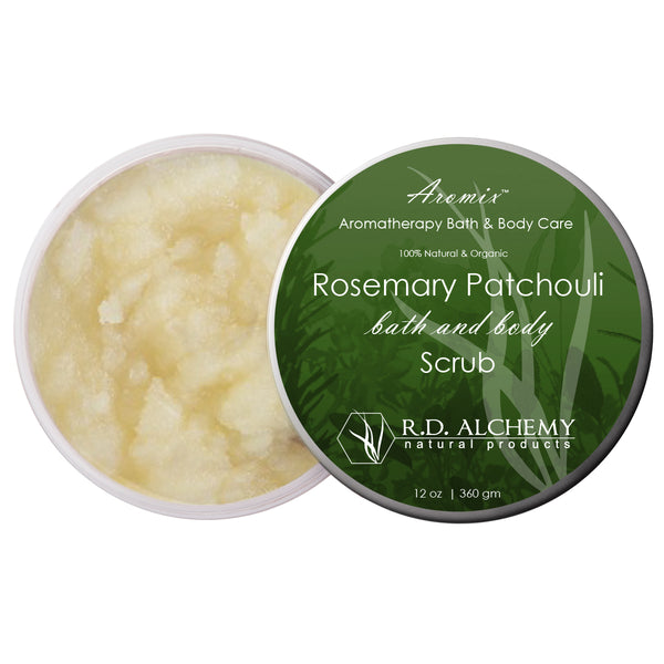Organic Rosemary Patchouli - Sea Salt Body Scrub