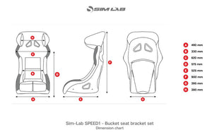 SPEED1 - SIM RACING BUCKET SEAT