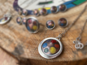 Champleve Color Wheel Pendant