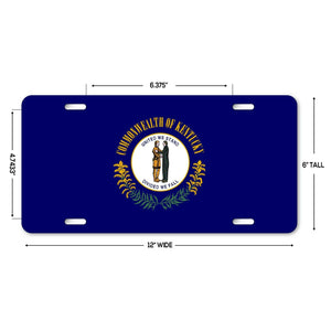 "LP133 - Kentucky Flag Custom Novelty Aluminum Automotive 6"" x 12 License Plate"