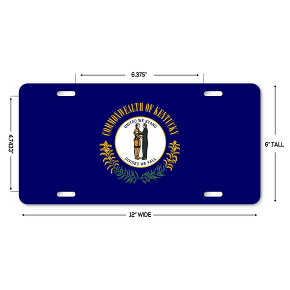 LP133 - Kentucky Flag Custom Novelty Aluminum Automotive 6