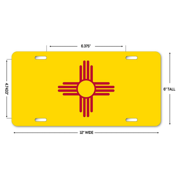 LP148 - New Mexico Flag Custom Novelty Aluminum Automotive 6