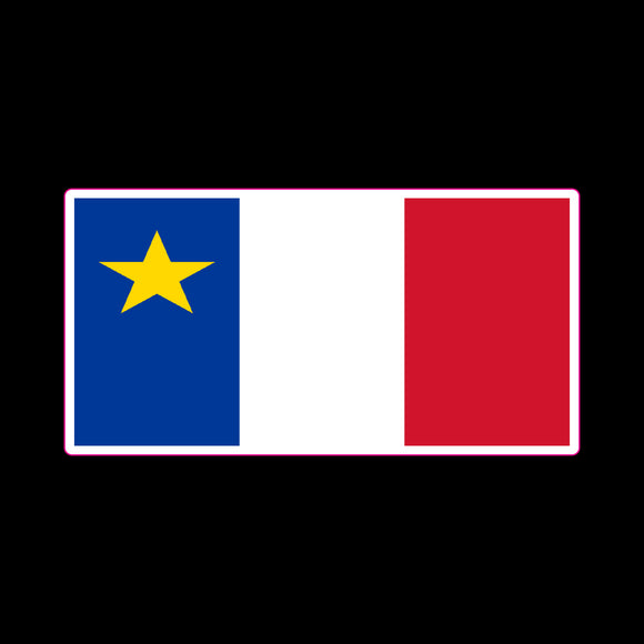 P498 - Acadian Flag Vinyl Printed Sticker