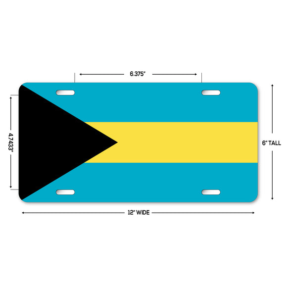 LP322 - Bahamas Flag Custom Novelty Aluminum Automotive 6