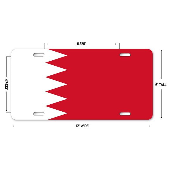 LP321 - Bahrain Flag Custom Novelty Aluminum Automotive 6