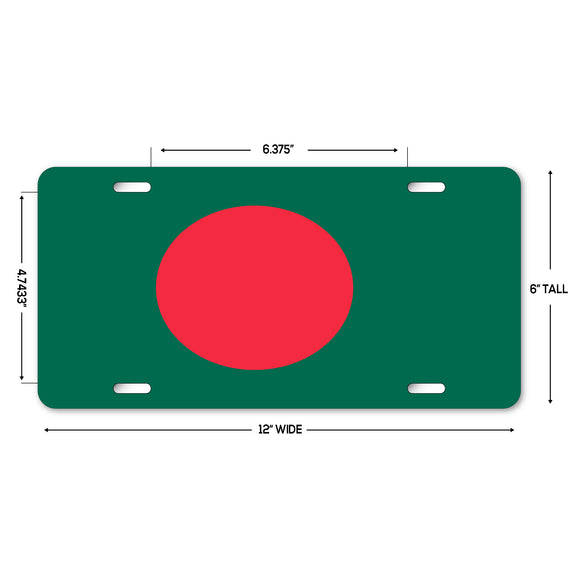 LP320 - Bbangladesh Flag Custom Novelty Aluminum Automotive 6