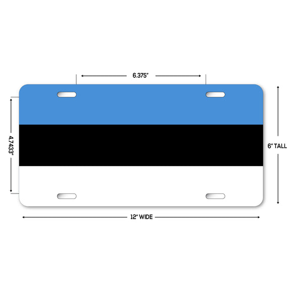 LP279 - Estonia Flag Custom Novelty Aluminum Automotive 6