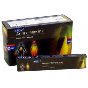 Satya Aura Cleansing  Green Mint Incense Box - Altered Reality