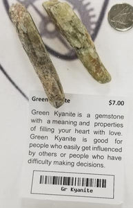 Green Kyanite Blades - Altered Reality
