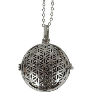 Metal Aroma Necklace & Lava Bead Flower of Life - Altered Reality