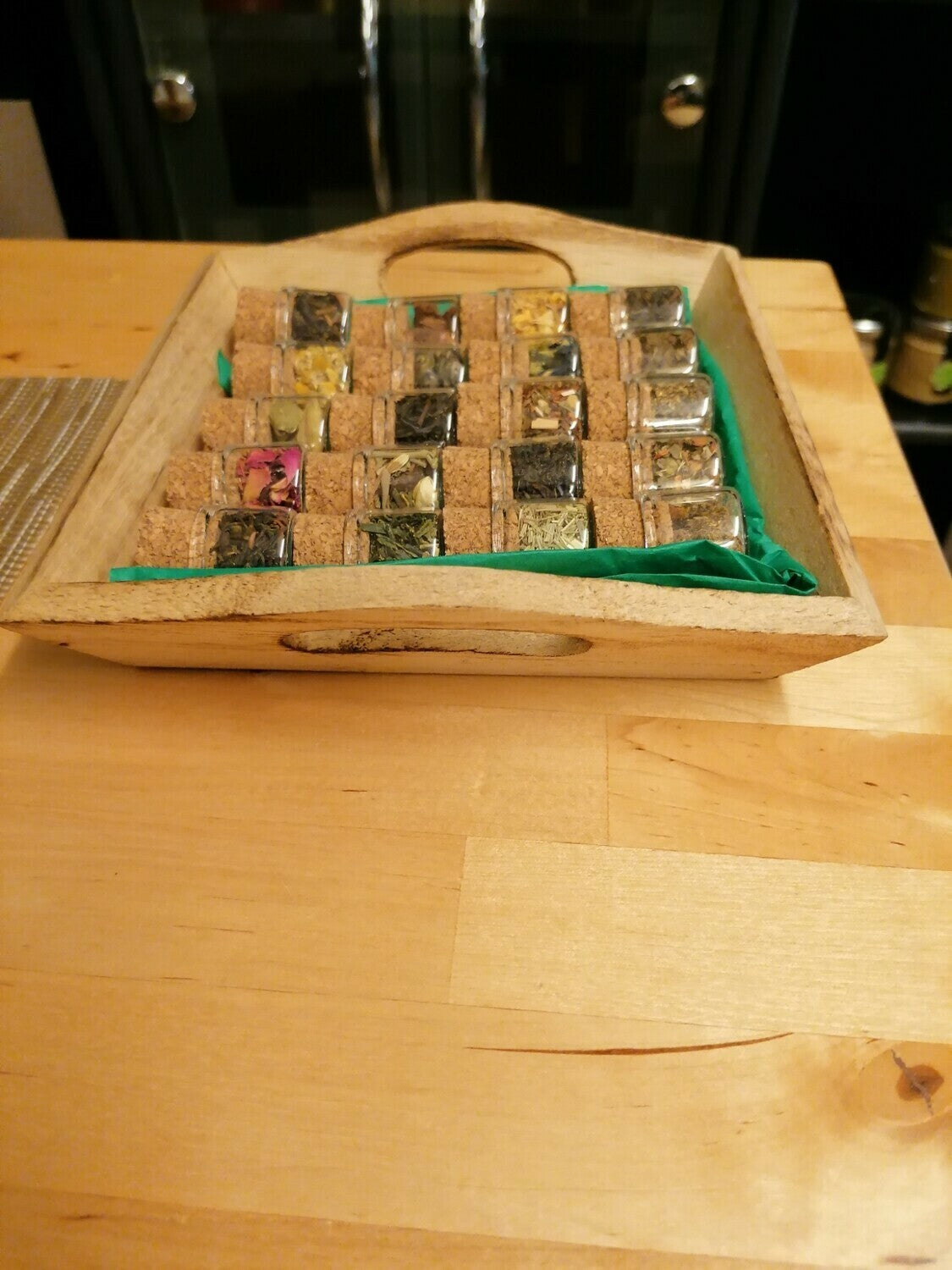 Glass Sample Tea Basket