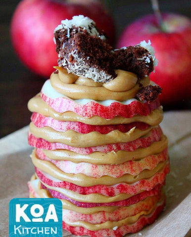 Better Brownie Peanut Butter Apple Stack