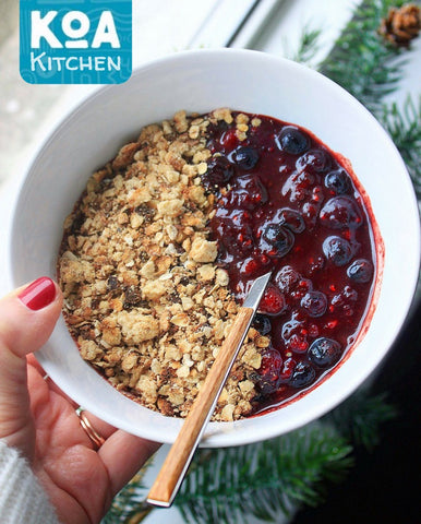 Better Brownie Berry Crumble