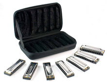Load image into Gallery viewer, Hohner Blues Band Seven Piece Harmonica Set with Custom Carrying Case