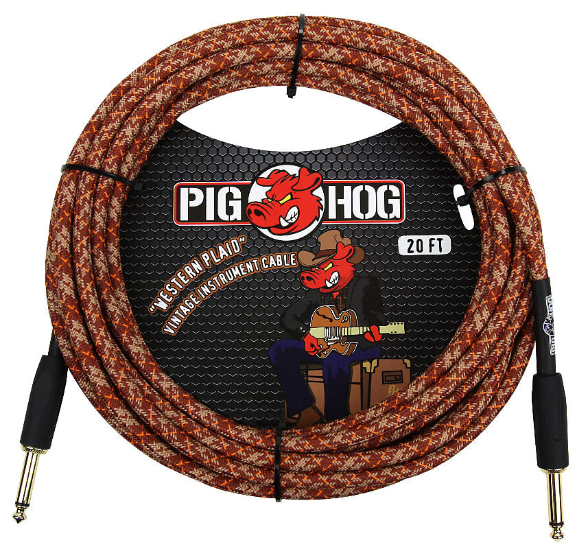 Pig Hog Western Plaid Instrument Cable 20ft
