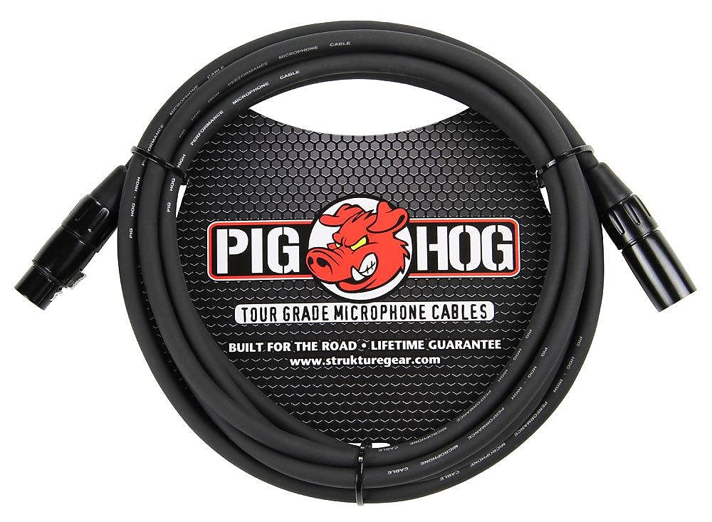 Pig Hog XLR M to F Microphone Cable Black 15ft