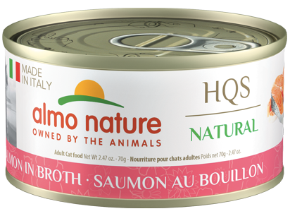 ALMO CAT HQS Made in Italy Salmon in Broth 70G
