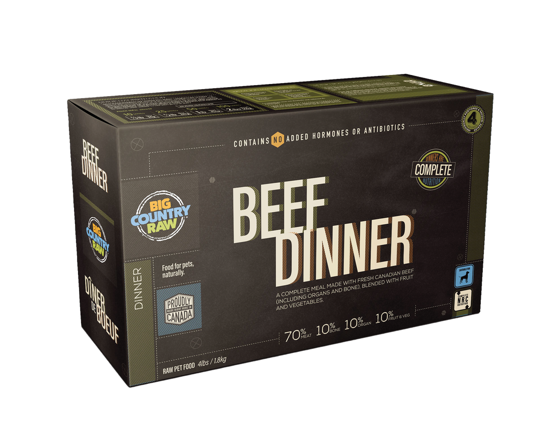 BIG COUNTRY RAW Beef Dinner Carton – 4 LB