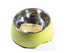Load image into Gallery viewer, DEFINE PLANET Bamboo Bowl Round wStainless Steel - Green