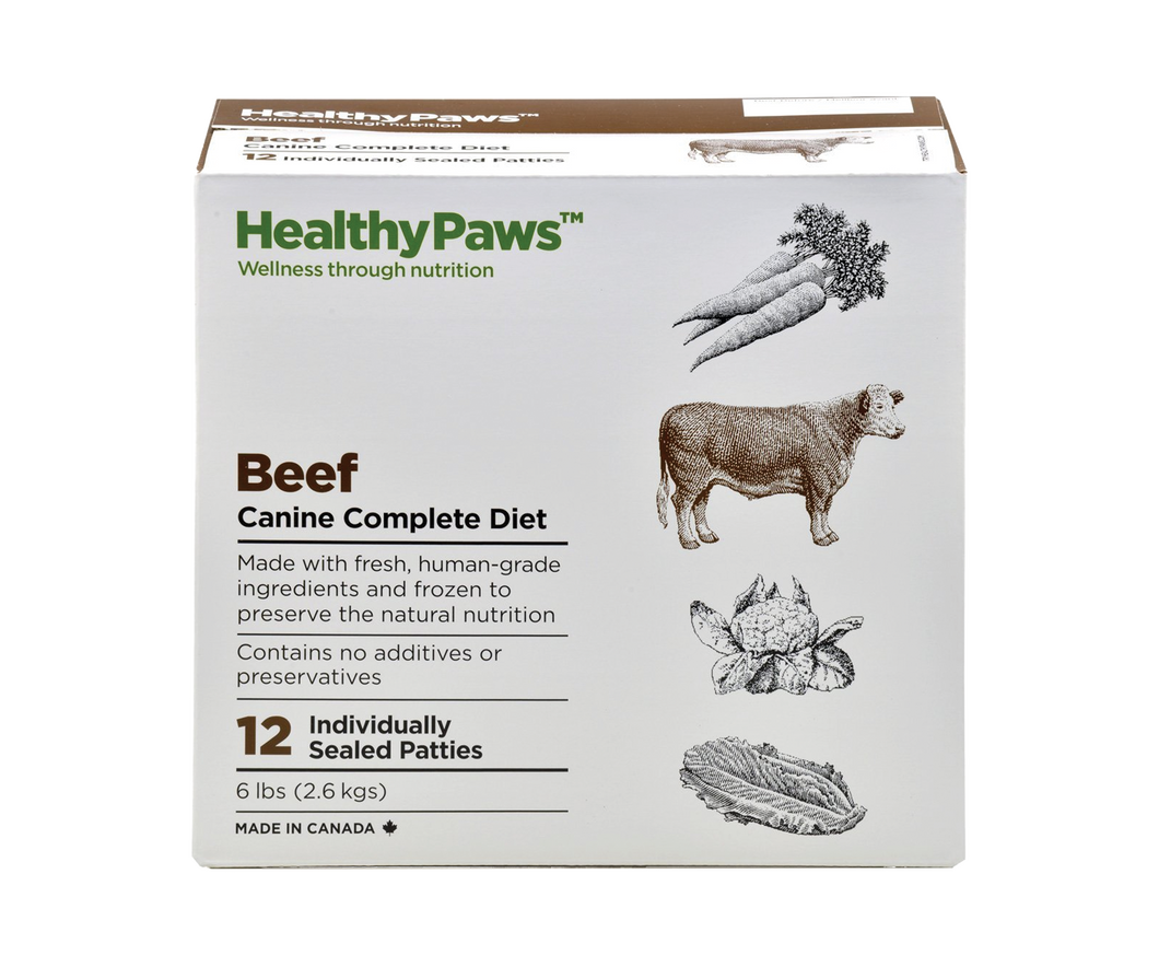 HEALTHY PAWS Beef Canine Complete Dinners 12 X 8OZ