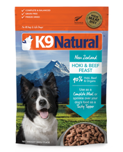 Load image into Gallery viewer, K9 NATURAL Hoki & Beef Feast Freeze Dried 500G