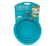 Load image into Gallery viewer, MESSY MUTTS Silicone Collapsible Bowl Blue