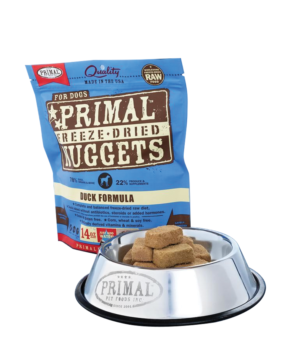 PRIMAL Canine Freeze-Dried Nuggets Duck 14OZ