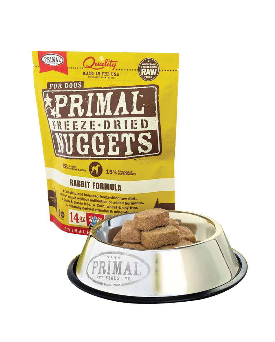 PRIMAL Canine Freeze-Dried Nuggets Rabbit 14OZ