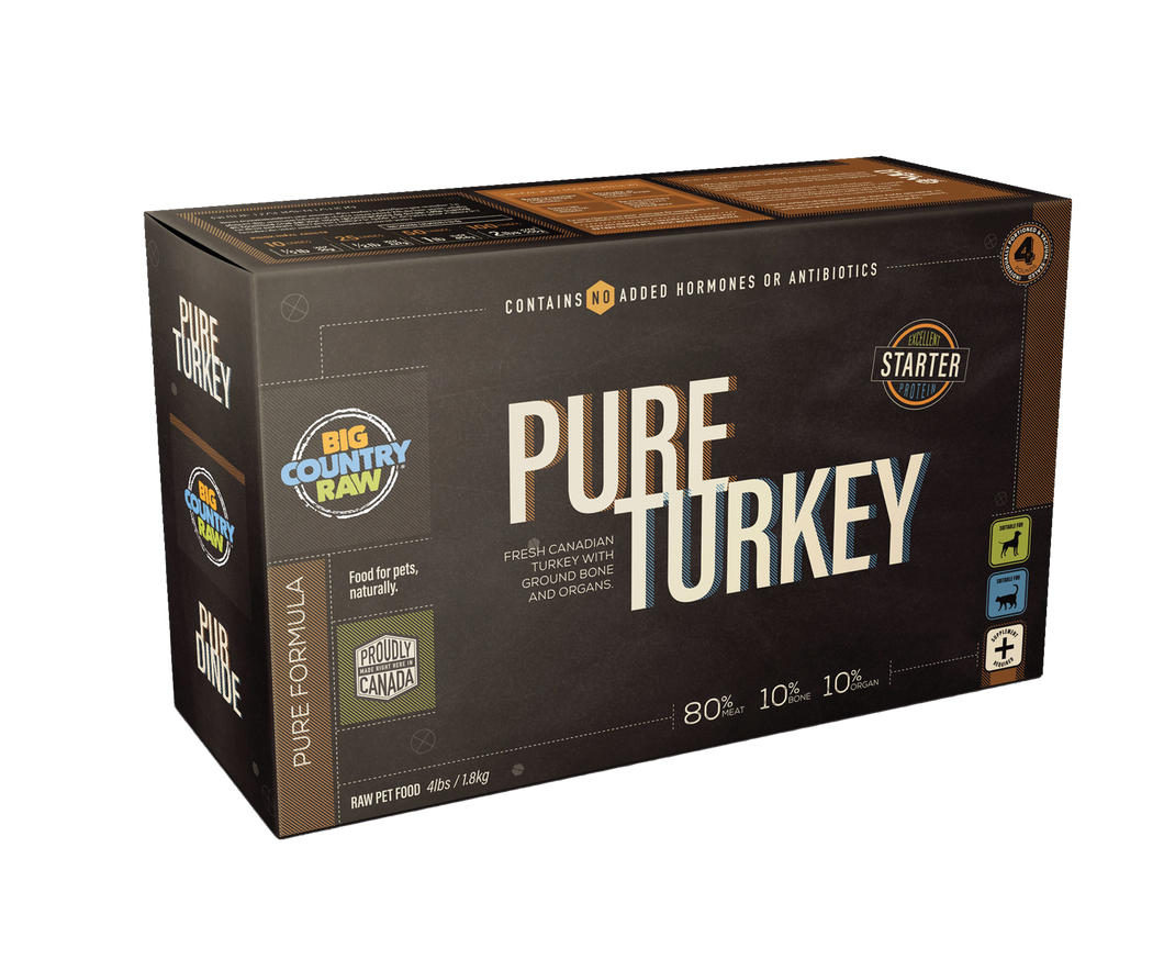 BIG COUNTRY RAW Pure Turkey Carton - 4LB
