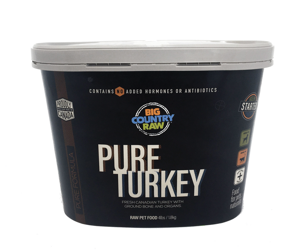 BIG COUNTRY RAW Pure Turkey Tub - 4LB