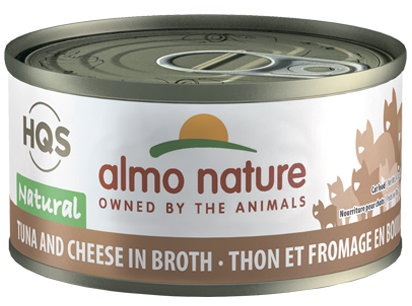 ALMO CAT HQS Natural Tuna and Cheese in Broth 70G