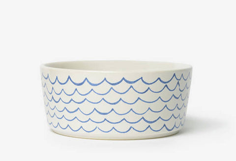 Sketched Waves Dog Bowl
