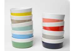 Dip of Color Dog Bowls