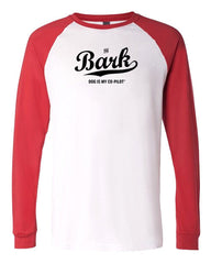Bark Script Long Sleeve Raglan T-Shirt