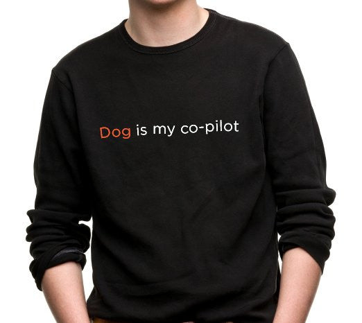 Black Dog Is My Co-Pilot T-Shirt