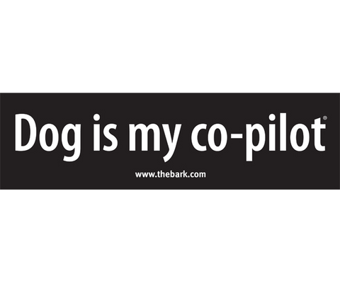 Dog Is My Co-Pilot Bumpersticker